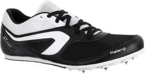 Czarne buty sportowe Kalenji sznurowane
