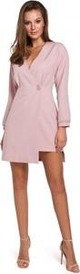 Sukienka Makover z dekoltem w kształcie litery v z tkaniny mini
