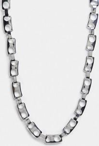 ASOS DESIGN – Łańcuszkowy naszyjnik z ogniw imitujących kapsle w srebrnym kolorze
