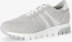 Buty sportowe Tamaris sznurowane z zamszu