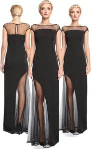 Sukienka Camill Fashion z dekoltem w łódkę maxi bez rękawów