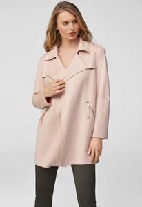 Różowy płaszcz ORSAY z zamszu