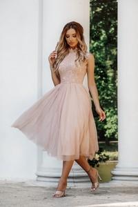 Różowa sukienka Shopaholics Dream midi