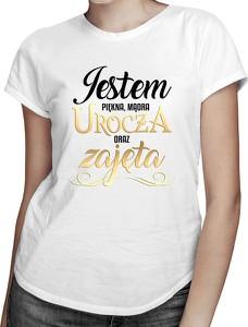 T-shirt Koszulkowy z bawełny w młodzieżowym stylu z okrągłym dekoltem