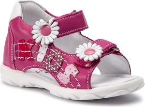 Różowe buty dziecięce letnie Lasocki Kids z nubuku