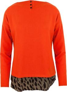 Czerwony sweter Style z dzianiny w stylu casual