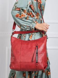 Czerwona torebka Sheandher.pl ze skóry ekologicznej na ramię