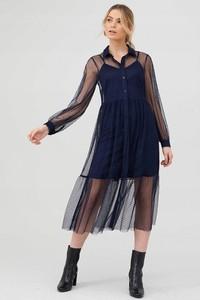 Sukienka V by Very z długim rękawem z tiulu