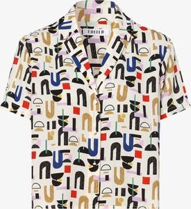 Bluzka EDITED z krótkim rękawem z kołnierzykiem w stylu casual