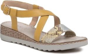 Żółte sandały Lasocki