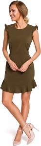 Sukienka MOE z okrągłym dekoltem bez rękawów mini