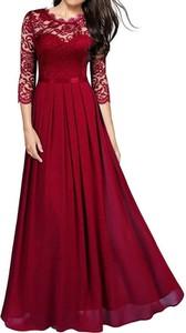 Sukienka Arilook z okrągłym dekoltem z długim rękawem