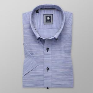 Niebieska koszula Willsoor w stylu casual z bawełny z długim rękawem