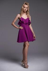 Fioletowa sukienka Ella Boutique na ramiączkach z dekoltem w kształcie litery v