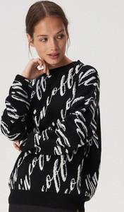 Czarny sweter Sinsay w stylu casual