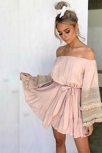 Różowa sukienka Ivet.pl