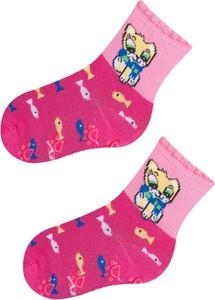 Różowe skarpetki YoClub dla dziewczynek z bawełny
