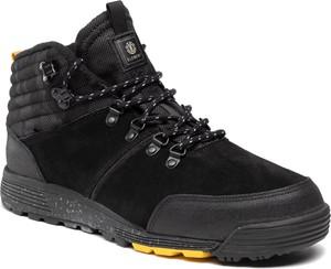 Czarne buty zimowe Element w stylu casual sznurowane