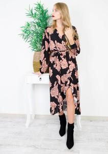 Sukienka Olika z długim rękawem asymetryczna