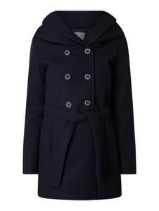 Granatowy płaszcz Amber & June w stylu casual