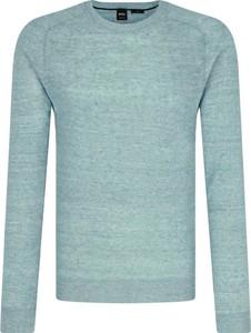 Sweter Hugo Boss w stylu casual z lnu