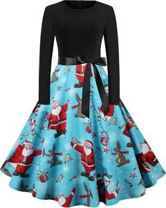 Sukienka Cikelly z okrągłym dekoltem midi