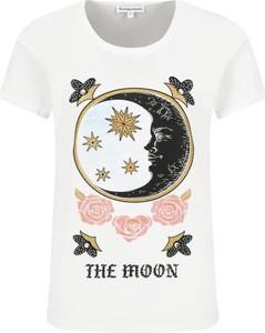 T-shirt Silvian Heach z okrągłym dekoltem z nadrukiem z krótkim rękawem