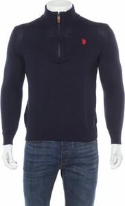 Granatowy sweter U.S. Polo