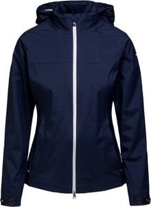 Granatowa kurtka Chervo z tkaniny w sportowym stylu