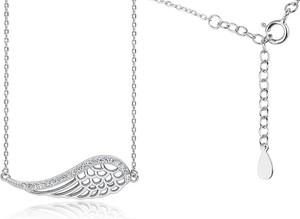 Valerio Rodowany srebrny naszyjnik gwiazd celebrytka skrzydło anioła wings cyrkonie srebro 925 Z1606N