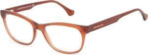 Pomarańczowe okulary damskie Balenciaga