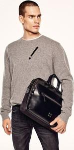Sweter Ochnik z wełny w stylu casual z okrągłym dekoltem
