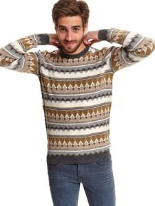 Sweter Top Secret z dzianiny w młodzieżowym stylu