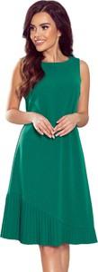 Zielona sukienka Moda Dla Ciebie bez rękawów