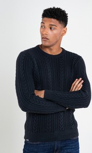 Sweter Big Star z okrągłym dekoltem z wełny