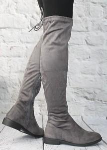 48c67f57d5283 kozaki za kolano zamszowe - stylowo i modnie z Allani