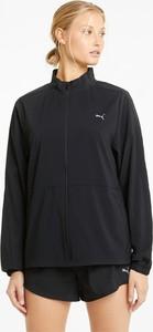 Czarna kurtka Puma z tkaniny w sportowym stylu