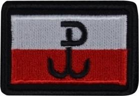 Plakietka Haasta Haft Flaga Polski B/Cz PW Rzep (PHFPWB)