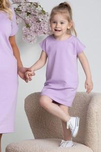 Fioletowa sukienka dziewczęca KARKO z dzianiny