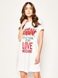 Sukienka Love Moschino mini prosta z krótkim rękawem