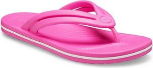 Różowe klapki Crocs w stylu casual
