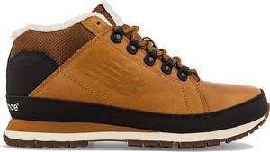 Brązowe buty zimowe New Balance ze skóry