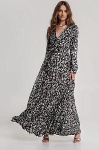 Granatowa sukienka Renee z dekoltem w kształcie litery v maxi