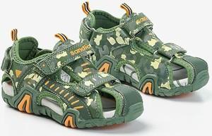 Zielone buty dziecięce letnie Royalfashion.pl na rzepy