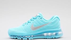 Turkusowe buty sportowe Nike w młodzieżowym stylu air max z płaską podeszwą