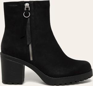 Czarne botki Vagabond w stylu casual