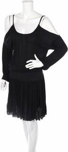 Czarna sukienka Elan w stylu casual