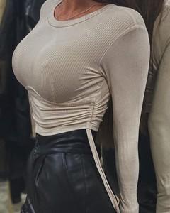 Bluzka Kendallme z okrągłym dekoltem w stylu casual