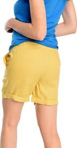 Żółte szorty Nessi Sportswear z lnu