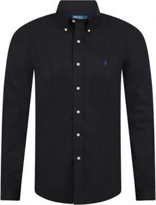 Czarna koszula Ralph Lauren w stylu casual z długim rękawem z bawełny
